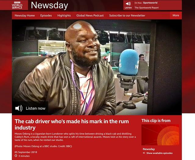 Taxi Spirit on the bbc Newsday