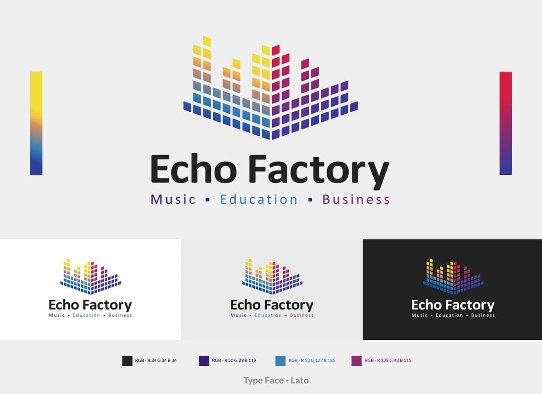 Echo Factory Brand identity Website Design