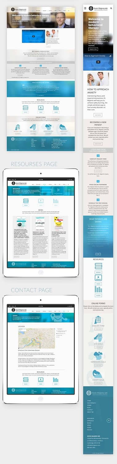 Kevin Majeres MD Home Page Desktop and Mobile