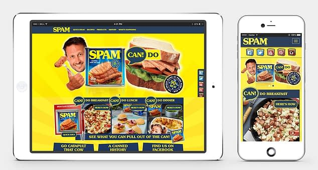 Spam UK website