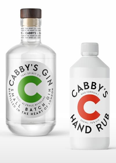 Cabby's Gin and Hand Rub Bundle