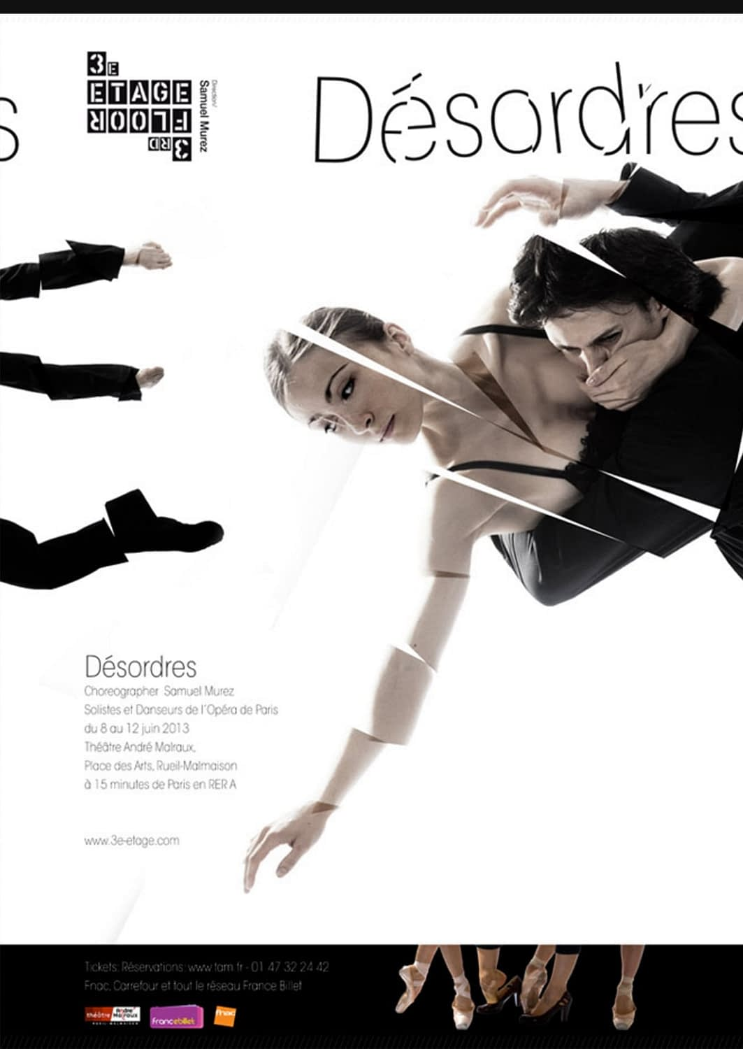 Poster Design for 3e étage. A group of Soloists and dancers from the Paris Opera Ballet.
