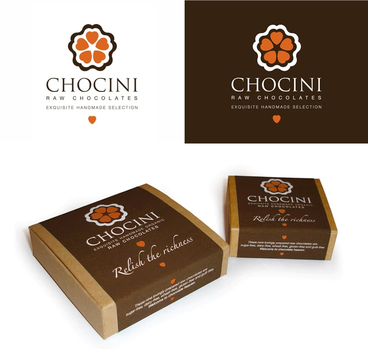 Brand Identity and packaging Chocini Chocolates