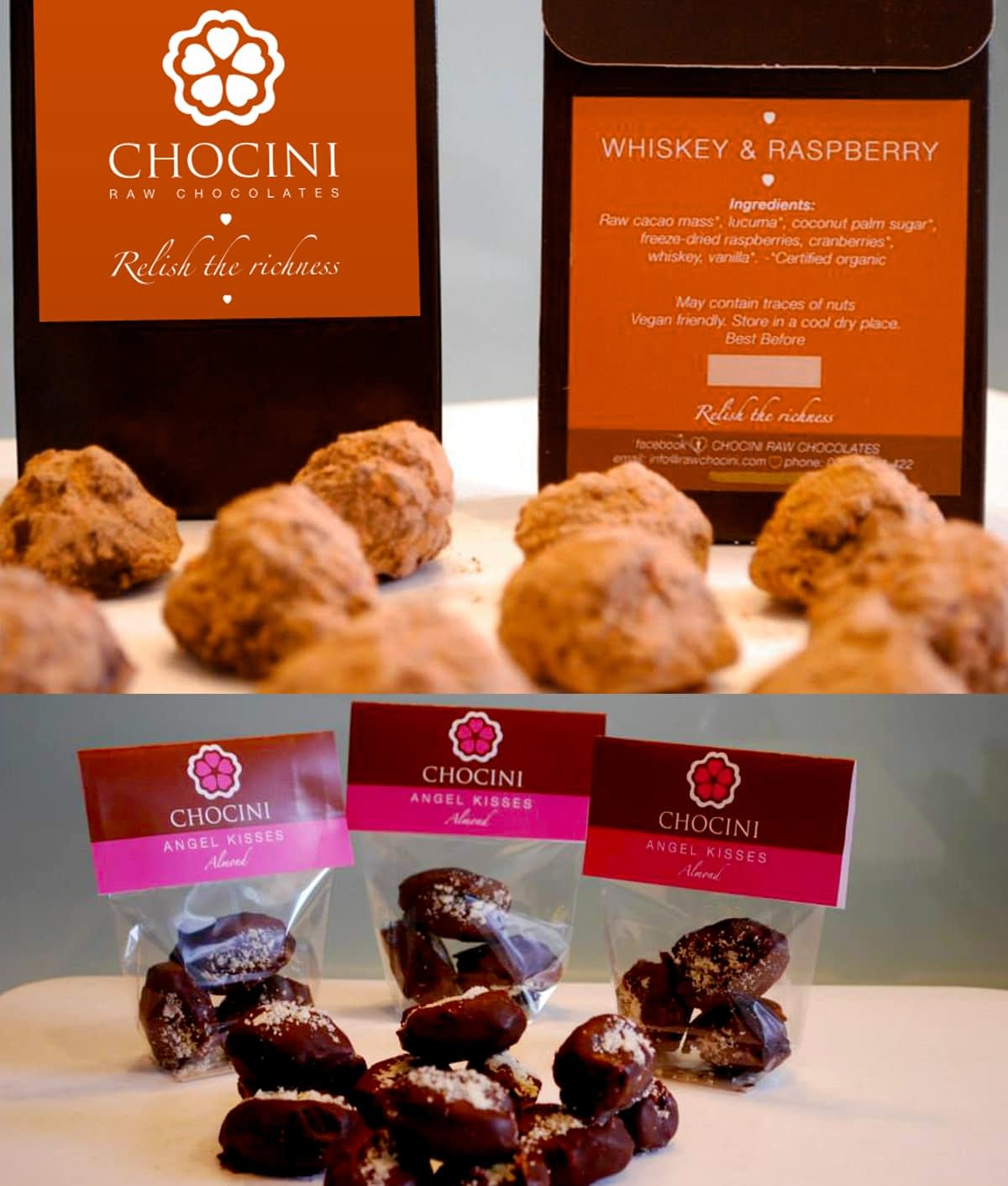 Chocini logo and packaging post images