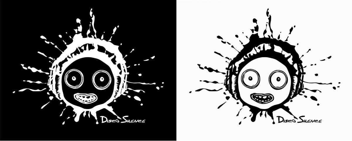 Branding Disco Silence Black and White