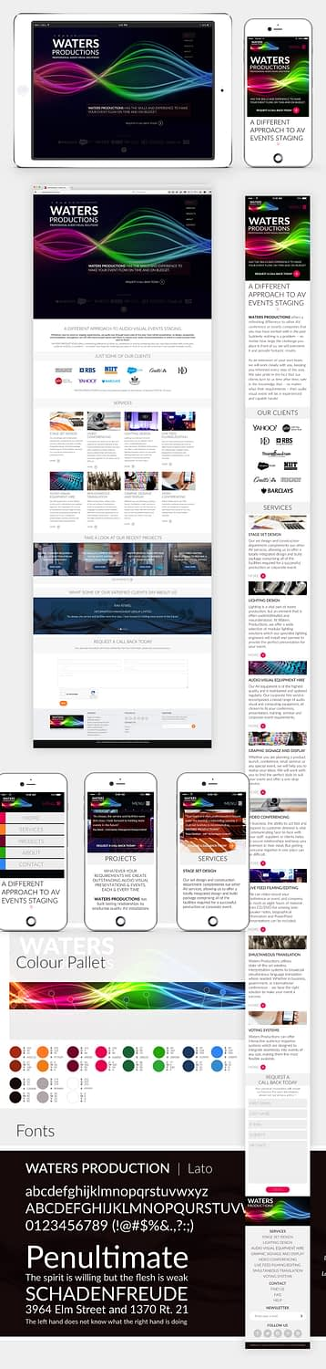 Waters Productions WordPress Theme