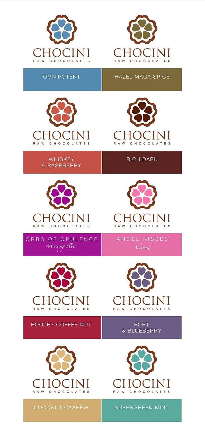 Chocini logo colours post images