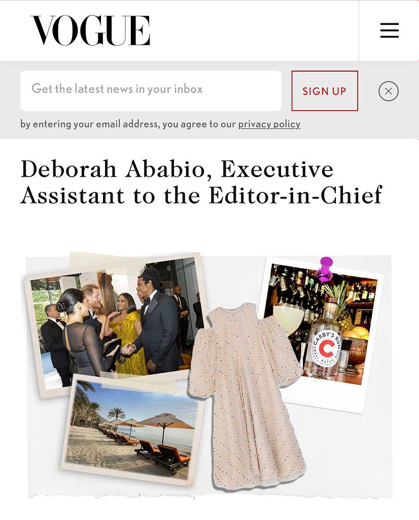 Vogue Deborah Ababio